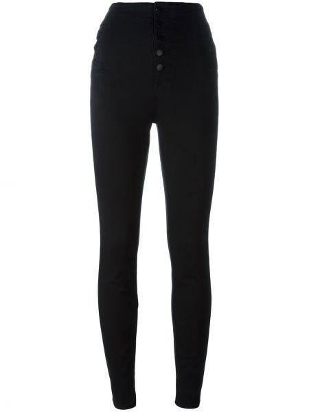 Черные джинсы-скинни с пайетками J Brand