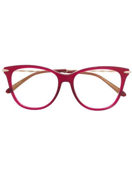 Różowa złota oprawka do okularów Elie Saab