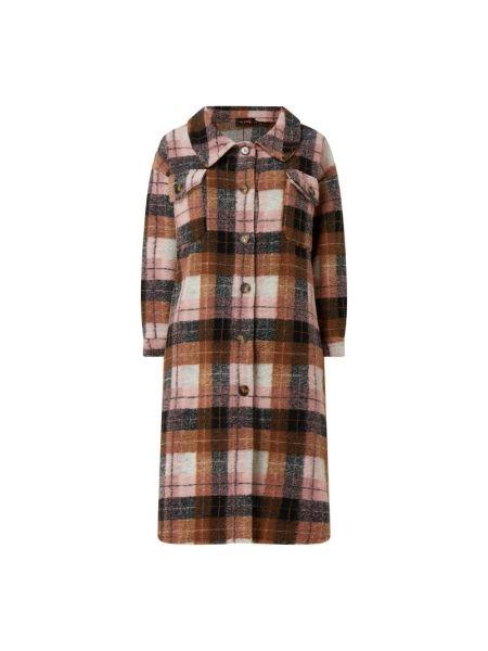 Płaszcz wełniany - różowy Miss Goodlife