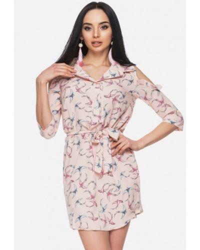 Пляжное платье весеннее розовое 0101 Brand