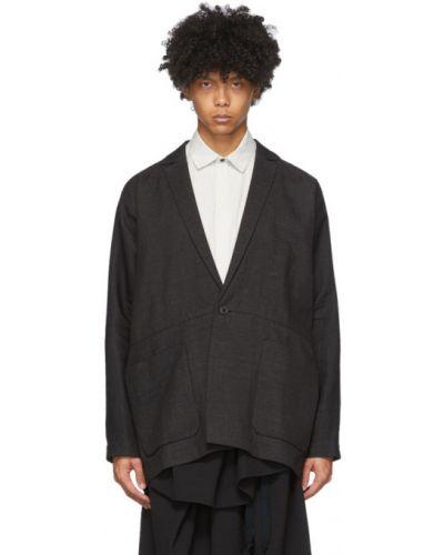 Czarna długa kurtka z długimi rękawami Jan-jan Van Essche