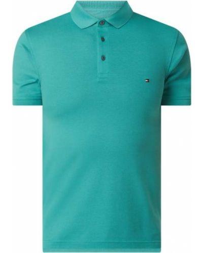 Zielona koszula bawełniana Tommy Hilfiger