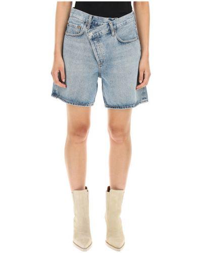 Niebieskie jeansy Agolde