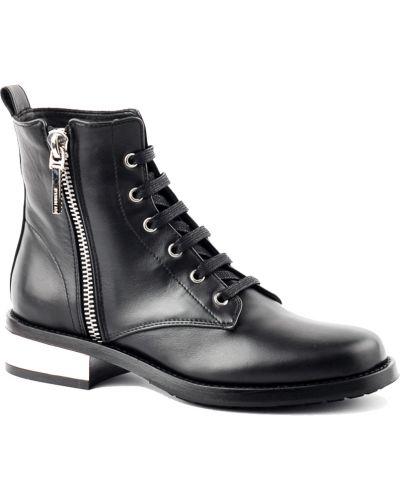 Ботинки на каблуке осенние кожаные Le Silla