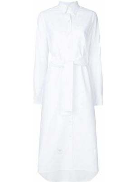 Платье макси на пуговицах с поясом Thom Browne