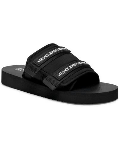 Czarne sandały Versace Jeans Couture