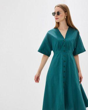 Платье бирюзовый прямое Perspective