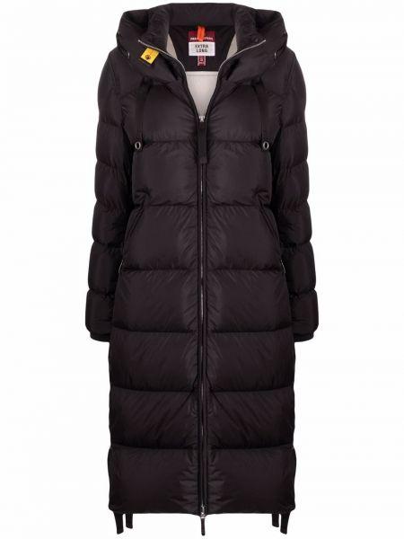 Черное пальто с перьями Parajumpers
