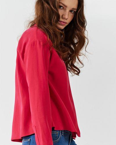 Блузка с воротником-стойкой прямая Simple