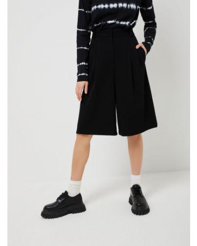 С завышенной талией трикотажные черные шорты Sela