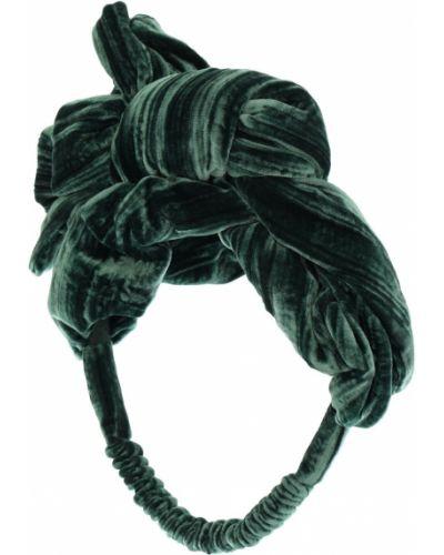 Jedwab zielony opaska na głowę elastyczny Tia Cibani