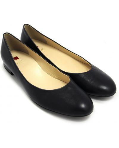 Кожаные балетки - черные Hogl