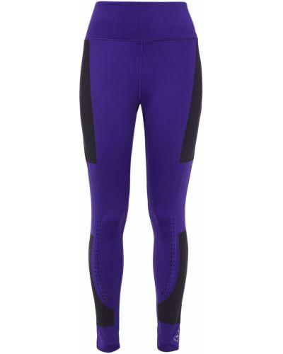 Тренировочные фиолетовые леггинсы стрейч Adidas By Stella Mccartney