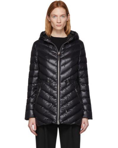 Кожаная куртка с капюшоном черная Mackage