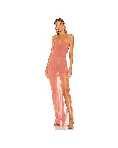 Вечернее платье на пуговицах фиолетовый Michael Costello
