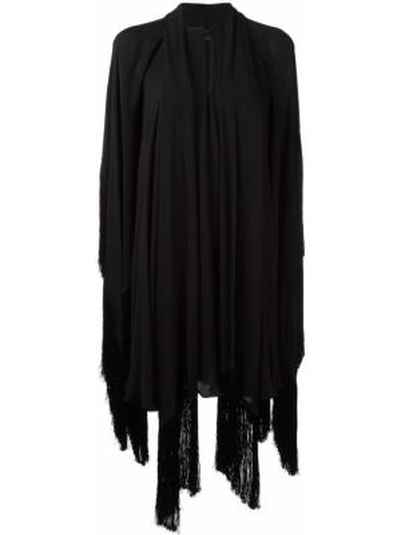Приталенное шелковое черное платье Plein Sud