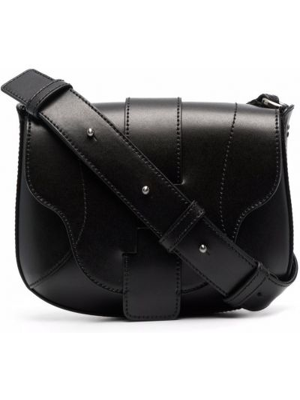 Кожаная сумка через плечо - черная Hogan