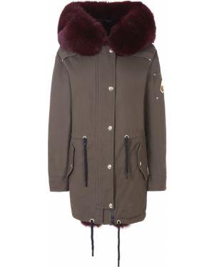 Куртка с капюшоном утепленная длинная Moose Knuckles