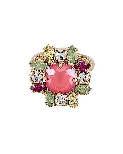 Różowy złoty pierścionek pozłacany Anton Heunis