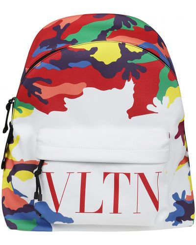 Plecak z printem - biały Valentino