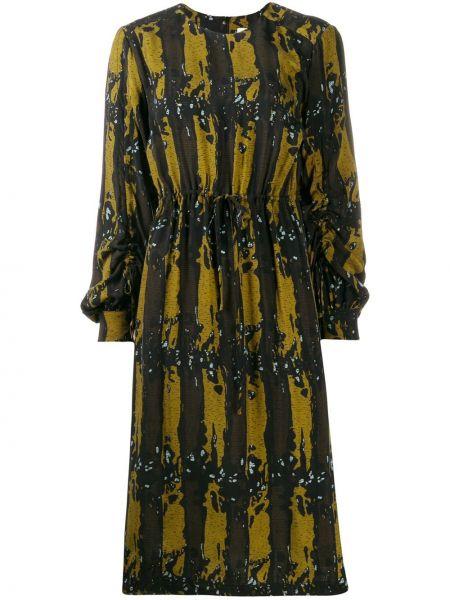 Платье миди с поясом с абстрактным принтом Tela