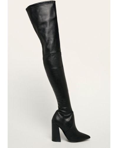 Ботинки на каблуке черные Steve Madden