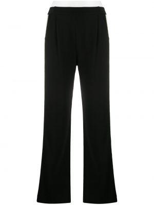 Черные с завышенной талией спортивные брюки с поясом Karl Lagerfeld