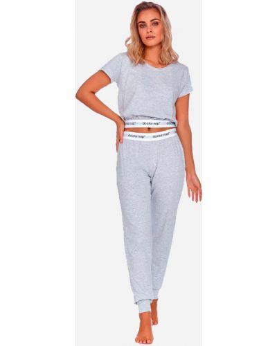 Пижамная серая пижама с брюками с карманами Dobranocka