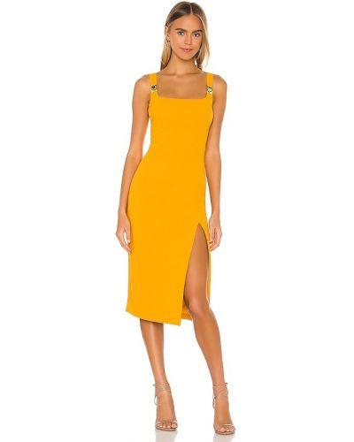 Платье с разрезом - золотое Elliatt
