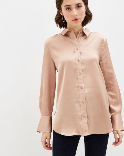 Бежевая блузка с длинными рукавами Marks & Spencer