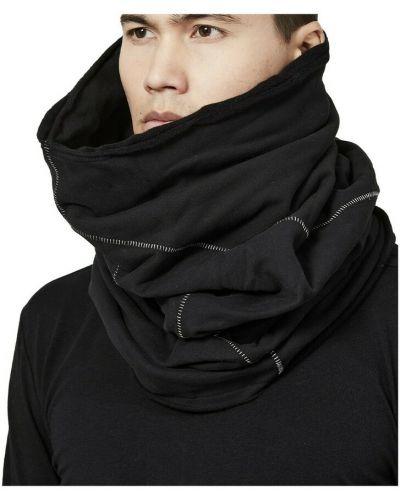 Czarny szalik bawełniany Thom Krom