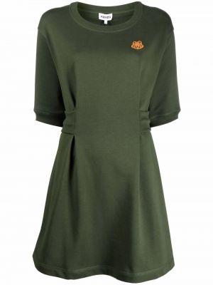 Хлопковое платье - зеленое Kenzo
