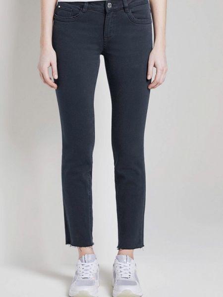 Синие джинсы-скинни с пайетками Tom Tailor