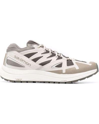 Кожаные кроссовки - зеленые Salomon S/lab