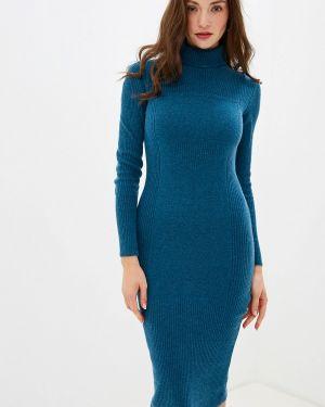Платье бирюзовый вязаное Brusnika