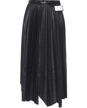 Плиссированная юбка миди асимметричная Helmut Lang
