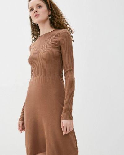 Прямое коричневое платье А-силуэта Haily's