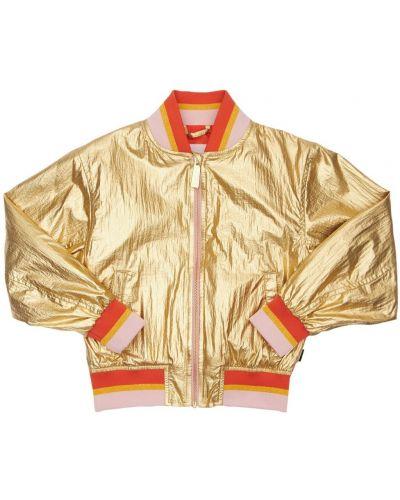 Куртка золотая с карманами на кнопках Molo