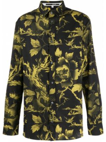 Koszula w kwiaty - czarna Mcq Alexander Mcqueen