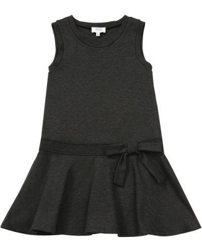 Платье мини серое из вискозы Aletta