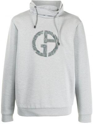 Bluza długa z długimi rękawami bawełniana z haftem Giorgio Armani