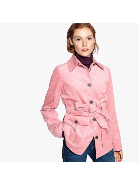Пальто велюровое с воротником La Redoute Collections