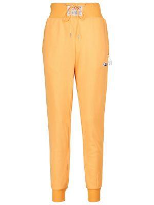 Żółte spodnie dresowe bawełniane Adam Selman Sport