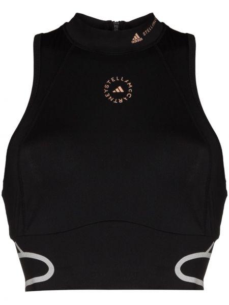 Черный спортивный топ Adidas By Stella Mccartney