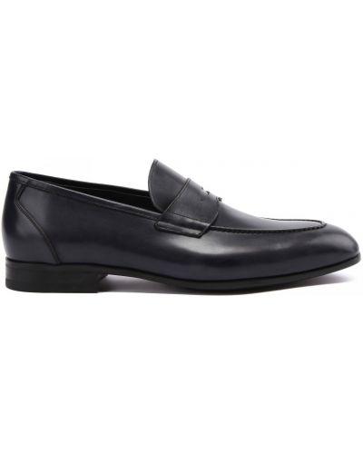 Кожаные синие туфли закрытые Franceschetti