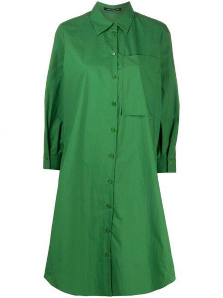 Платье рубашка - зеленое Luisa Cerano
