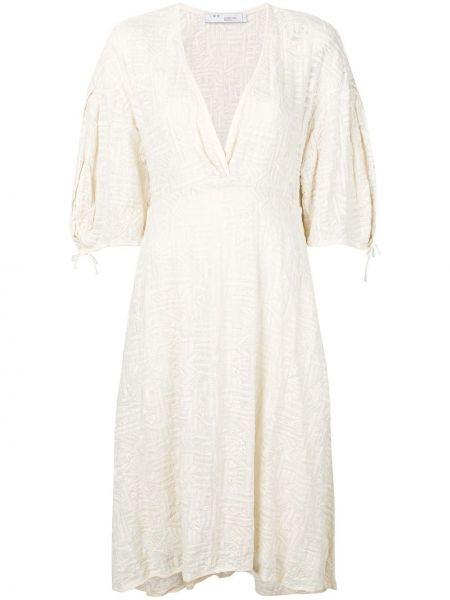 Платье мини с V-образным вырезом с рукавами Iro