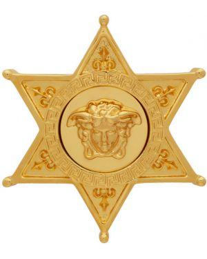 Broszka ze złota złoto Versace