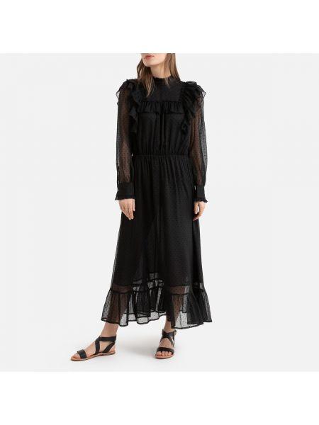 Платье макси с вышивкой на пуговицах La Redoute