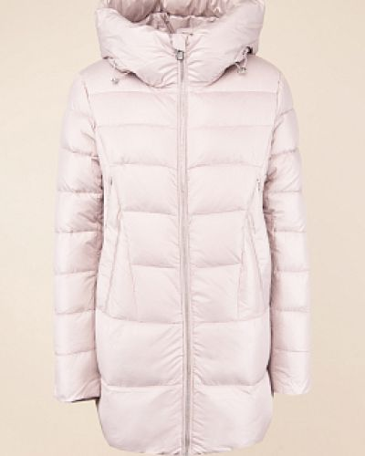Прямой розовый пуховик с капюшоном Snowimage